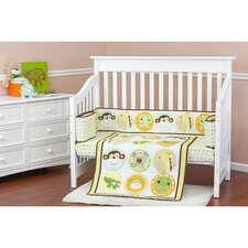 Animal Kingdom Portable 3 Piece Crib Bedding Set