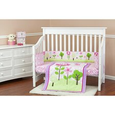 Spring Garden Portable 3 Piece Crib Bedding Set