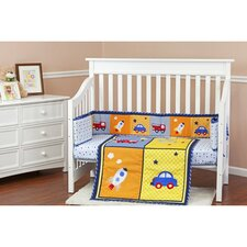 On The Go Portable 3 Piece Crib Bedding Set