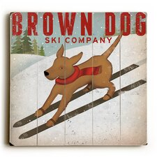 Brown Dog Ski Wall Décor