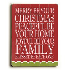 Merry Peaceful Joyful Wall Decor