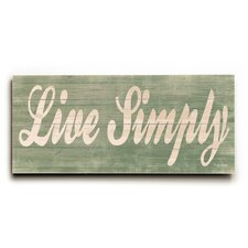 Live Simply Wall Décor