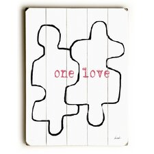 One Love Puzzle Pieces Wall Décor