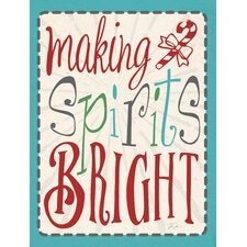 Making Spirits Bright Wooden Wall Décor