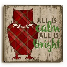 All Is Calm All Is Bright Wooden Wall Décor