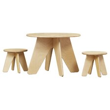 Kids Areo 3 Piece Table & Stool Set