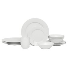16 Piece Traditional Rim Dinnerware Set
