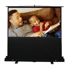 "Porta-Vu Riser Matte White 60"" Diagonal Portable Projection Screen"