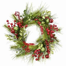 Tinsel and Pine Wreath