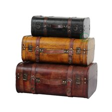 3 Piece Suitcase Trunk Set