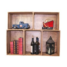 Stackable Antique Style Wooden Crates Decorative Shelving