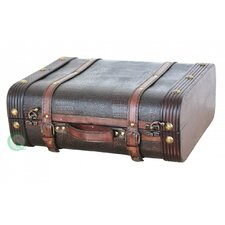 Wood Leather Suitcase