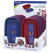 12 Piece Display Collapsible Berry Colander (Set of 12)