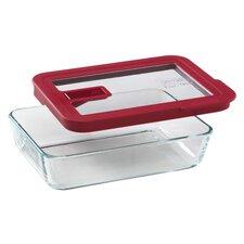 No Leak Lids 3-Cup Rectangular Storage Dish