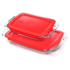 Easy Grab Oblong 4 Piece Bakeware Set
