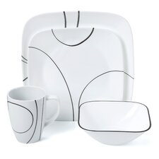 Simple Lines 16 Piece Dinnerware Set