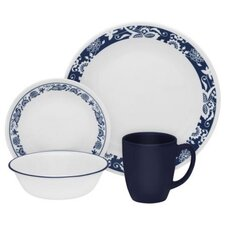 Livingware True Blue 16 Piece Dinnerware Set