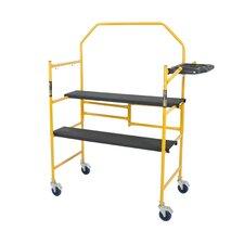 Jobsite Series 4.81' H x 49.56'' W x 22.56'' D Steel Folding Scaffolding