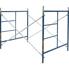 SaferStack 5' H x 60' W x 84'' D Steel Contractor Series Single Lift Scaffolding