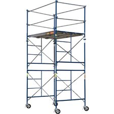 SaferStack 10' H x 60'' W x 84'' D Steel Contractor Series Rolling Tower Scaffolding
