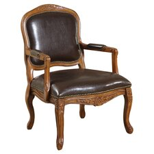 Napoleon Faux Leather Arm Chair
