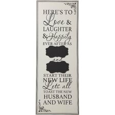Words of Wonder and Celebration Here's to Love Wall Decor