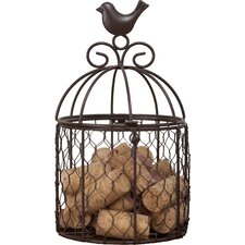 Wine Women and Laugter Metal Catchall Bird Cage