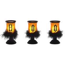 Halloween 3 Piece Novelty Candle Set