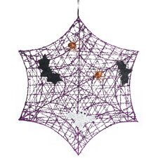 "Halloween 24"" Spooky Spider Web Wreath"