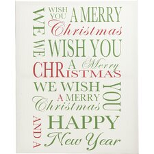 Allover Words Holiday Wall Decor
