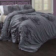 Serena 3 Piece Comforter Set in Gray