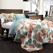 Layla 3 Piece Reversible Coverlet Set