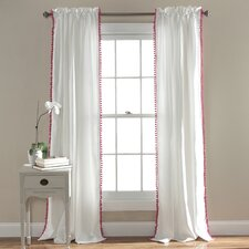 Pom Pom Single Curtain Panel