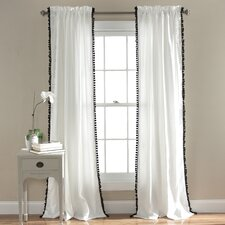Pom Pom Single Curtain Panel