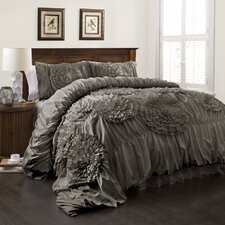Serena 3 Piece Comforter Set in Gray