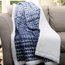 Pebble Creek Tie Dye Sherpa Throw Blanket