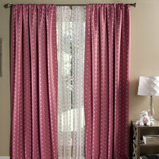 Polka Dots Blackout Window Single Curtain Panel (Set of 2)