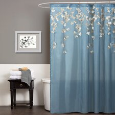 Flower Drop Shower Curtain
