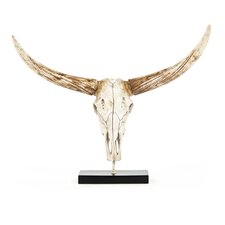 Bull Skull with Base Wall Décor