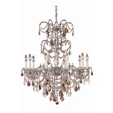 Athena 10 Light Crystal Chandelier