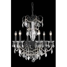 Athena 6 Light Crystal Chandelier