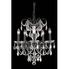 Athena 5 Light Crystal Chandelier