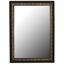 Mumbai Copper Gold Black Surround Framed Wall Mirror