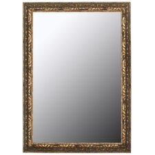 Classic Aged Silver in Olde Copper Accents Framed Wall Mirror