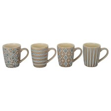 4 Piece Aruba Fashion Mug Set (Set of 4)