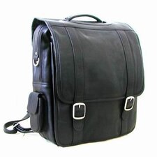 Convertible Leather Laptop Briefcase