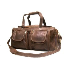"21"" Distressed Leather Travel Duffel"