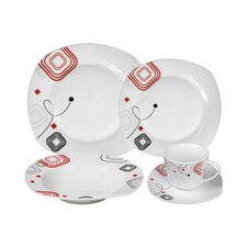 Porcelain 20 Piece Square Dinnerware Set