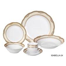Isabella 24 Piece Dinnerware Set