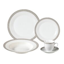Natalia 24 Piece Porcelain Dinnerware Set
